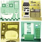 Domestic Kitchen,Living Room,Cartoon,Domestic Bathroom,Domestic Room,Bedroom,Home Interior,Vector,Curtain,Stove,Ilustration,Window,Bathtub,Sink,Bed,Sofa,Cooking,Clean,Dresser,Table,Counter Top,Drawing - Art Product,Green Color,Electric Lamp,Art,Hanging,Mirror,Yellow,Brown,Painted Image,Blue,Beige,Highboy,Kitchen Knife