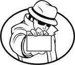 Detective,Mystery,Business Card,Secrecy,Business,Hat,Inspector,Invitation,Sign,Coat,Advertisement,hire,Black And White,Ilustration,Showing,Jacket,Illustrations And Vector Art,Label,Business Person,Commercial Sign,Empty,Business Symbols/Metaphors,Retail/Service Industry,Businessman,Black And White Instant Print,Industry,Blank,Long Coat,Business,Copy Space