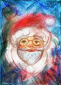 Ilustration,Santa Claus,Watercolor Painting,Christmas,Photography,Gift,Winter,Drawing - Art Product,Pine Branches,Branch,Christmas Present,Portrait,Celebration,Pine Tree,Color Image,Human Face