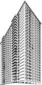 Skyscraper,Architecture,Silhouette,Apartment,Built Structure,Building Exterior,Computer Graphic,Vector,Office Building,Digitally Generated Image,Clip Art,Urban Scene,Black Color,Black And White,Human Settlement,Design,Isolated On White,Modern,Tall,White Background,City Life,Ilustration,Geometric Shape