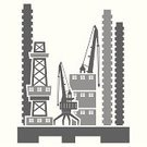 Crane - Construction Machinery,Factory,Construction Site,Construction Industry,Symbol,Built Structure,Silhouette,industrialization,City,Computer Icon,Design Element,Town,Computer Graphic,Industry,Urban Scene,Clip Art,Derrick Crane,Vector,Single Object,Vector Icons,Digitally Generated Image,Building Exterior,Industry,Architecture,Design,Illustrations And Vector Art,Art,Ilustration,Construction,City Life,Architecture And Buildings,Image,Architectural Detail