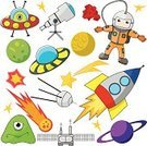 Space,Cartoon,UFO,Astronaut,Rocket,Planet - Space,Alien,Symbol,Spaceship,Vector,Science,Group of Objects,Astronomy Telescope,Comet,Ilustration,Space Shuttle,Isolated,Set,Doodle,Saturn,Earth,Microscope,Shape,Characters,Art,Satellite,Astronomy,Fun,Station,Star Shape,Men,Cosmonaut,People,Flying,Technology,Orbiting,Suit,Exploration,Order,Design,Moon Surface,Image,People,Isolated Objects,Vector Icons,Isolated-Background Objects,Illustrations And Vector Art