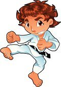 Karate,Child,Cartoon,Sport,Judo,Kung Fu,Little Boys,Human Foot,Childhood,Playing,Fighting,Vector,Humor,Comic Book,Illustration Technique,Conflict,Characters,Strength,Fist,Facial Expression,Real People,Cute,Belt,Leotard,Balance,People,Learning,Power,Illustrations And Vector Art,Son,Color Image,Vector Cartoons,Competition,Sports And Fitness