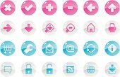Interface Icons,Computer Icon,Symbol,Pink Color,Square Shape,Internet,Web Page,Global Communications,Control Panel,Blue,E-Mail,Magenta,Shiny,Concepts And Ideas,Vector Icons,Communication,Illustrations And Vector Art,Reflection