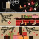 Christmas,Fireplace,Holiday,Retro Revival,Christmas Stocking,Gift,Banner,Chandelier,Bow,Christmas Paper,Christmas Present,Lighting Equipment,Backgrounds,Inside Of,Indoors,Branch,Box - Container,Winter,Wrapped,Design,Christmas Decoration,Fir Tree,Sock,Candle,Cultures,Wool,Hanging,Red,Ribbon,Vector,Package,Domestic Life,Ilustration,Woven,Close-up,Ornate,Festive Mood,Illustrations And Vector Art,Holidays And Celebrations,Christmas,December,Celebration Event,Holiday Backgrounds,Vector Backgrounds,Wrapping Paper,Exhilaration