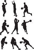Sport,Basketball Player,Silhouette,Basketball,Basketball - Sport,Vector,Playing,Ball,Ilustration,Men,Activity,Computer Graphic,Action,Professional Sport,Male,Digitally Generated Image,White Background,Motion,Aiming,Holding,Clip Art,Leisure Games,Running,Athlete,Dribbling,Competition,Agility,Black Color,Effort,On The Move,Energy,Multiple Image,Shooting at Goal,Team Sport,Physical Activity,Competitive Sport,Scoring,Skill