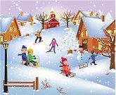 Christmas,Winter,Child,Non-Urban Scene,Snow,Landscape,Skiing,House,Tobogganing,Childhood,New,Church,Snowboarding,Humor,Year,Sled,Vector,Snowman,Fun,Holiday,Greeting,Playing,Ilustration,Season,Tree,Celebration,Christmas Decoration,Cheerful,Nature,Rural Scene,Cold - Termperature,Happiness,Blue,Christmas Ornament,White,December,Illustrations And Vector Art,Frozen,Frost,Holidays And Celebrations,Christmas,Snowflake