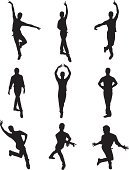 Dancer,Silhouette,Dancing,Performing Arts Event,Male,Performance,Recreational Pursuit,Posture,Men,Action,Vector,Creativity,Motion,Leisure Activity,White Background,Practicing,Skill,Ilustration,Stretching,Clip Art,Computer Graphic,Black Color,Multiple Image,Strength,Nightlife,Youth Culture,Digitally Generated Image,Isolated On White,Activity,Expertise,Enjoyment,Physical Activity,Funky,Entertainment
