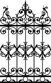 Gate,Iron - Metal,Decoration,Metal Grate,Swirl,Exclusion,Grid,Rack,Design Element,Architectural Detail,Vector Florals,Vector Ornaments,Architecture And Buildings,Illustrations And Vector Art,Floral Pattern,Backgrounds,chequer