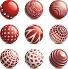 Spotted,Computer Network,Communication,Sphere,Red,Global Communications,Circle,Three-dimensional Shape,Symbol,Striped,Planet - Space,Shiny,Shape,Set,Technology,Technology Abstract,Business,Business Abstract,Communications Technology