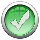 Check Mark,Interface Icons,Accessibility,Symbol,Green Color,Log On,Computer Icon,Verified,Glass - Material,Approved,granted,Circle,Trust,Shiny,Authority,Receiving,Accepted,Entering,Isolated On White,White Background,Access Granted
