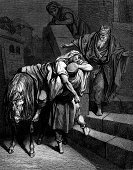 samaritan,Gustave Dore,Men,Religious Offering,Spirituality,Physical Injury,Horse,Bible,Wound,Religion,Old,Group Of People,Assistance,Clothing,Engraved Image,Robe,Riding,Catholicism,Inn,New Testament,Senior Adult,History,Religious Scene,Religious Images,Facial Hair,Religious Event,People,People,Town,Religious Image,Concepts And Ideas,Religion,Cultures,Christianity,Religious Illustration,Male,Senior Men,Mature Men,Obsolete