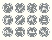 Hardhat,Symbol,Wrench,Computer Icon,Building - Activity,Home Improvement,Work Helmet,Construction Site,Working,Manual Worker,Work Tool,Earth Mover,Bulldozer,Hand Saw,Hammer,Power,Ilustration,Setting,Action,Circle,Paint Roller,Screwdriver,Roadblock,Traffic Cone,Ruler,Interface Icons,Equipment,Claw Hammer
