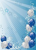 Birthday,Balloon,Invitation,Backgrounds,New Year's Eve,Party - Social Event,Blue,Celebration,Frame,Silver Colored,Vector,Cartoon,Carnival,New Year's Day,Star Shape,Traveling Carnival,Group of Objects,Ribbon,Vertical,Clip Art,School Carnival,Holiday,Decoration,Gray,No People,Ilustration,Bouquet,Halftone Pattern,Spotted,Illustrations And Vector Art,Birthdays,Color Image,Holidays And Celebrations,New Year,Holiday Backgrounds,Vector Backgrounds,Copy Space