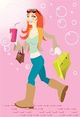 People,Lifestyles,Shopping,Teenager,Adult,Cute,Illustration,Women,Teenage Girls,Teenagers Only,Illustrations And Vector Art,10,41,66,96,59,39,65,80,00,00,00,00,00,00,000
