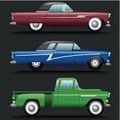 Car,Vintage Car,Classic,Collector's Car,Truck,Pick-up Truck,Old-fashioned,Convertible,Drive,Land Vehicle,Mode of Transport,Sports Car,Illustrations And Vector Art,Concepts And Ideas,Transportation,Motor Vehicle