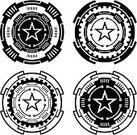 Futuristic,Techno,Diagram,Circle,Gear,Technology,Shape,Vector,Star Shape,Vector Ornaments,Illustrations And Vector Art,Black Color,Intricacy