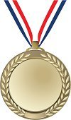 Trophy,Medal,Gold,Vector,Gold Colored,Ribbon,Award Ribbon,Isolated,Illustrations And Vector Art,Sport,Success,Ilustration,Award