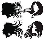 Human Hair,Blowing,Hairstyle,Curly Hair,Women,Silhouette,Vector,Long Hair,Ilustration,Female,Beauty,Design,Style,Fashion,template,Black Color,Beautiful,Set,Design Element,Beauty And Health,Illustrations And Vector Art,People,Glamour,Fashion,Vector Icons,Adult,Elegance