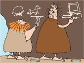 Caveman,Innovation,Invention,Stone Age,Computer,Cave,Drawing - Art Product,Prehistoric Era,Ancient,Humor,Painting,Pencil Drawing,Ilustration,Futuristic,Painted Image,Forecasting,Progress,PC,Development,Growth,developments,Computers,Vector Cartoons,Business Symbols/Metaphors,Illustrations And Vector Art,Modern,Business,Technology