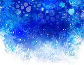 Christmas,Backgrounds,Snowflake,Winter,Snow,Blue,Star Shape,Shiny,White,Pattern,Horizontal,Abstract,Ilustration,Freshness,Color Gradient,Design Element,Decoration,Style,Wallpaper Pattern,Creativity,Vibrant Color,Ornate,Circle,Composition