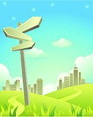 Footpath,Thoroughfare,Cityscape,Sign,Urban Scene,Route Sign,City Life,Nature,Built Structure,Sky Only,Building Exterior,Sunlight,Pole,Vertical,Landscapes,Architecture Backgrounds,Vector Backgrounds,Architecture And Buildings,Illustrations And Vector Art,Cloudscape,Cloud - Sky,Sky,Nature