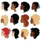 Human Hair,African Descent,Women,Black Color,Hairstyle,Vector,Curly Hair,Human Face,Beauty,Design,Ilustration,Fashion,Set,Style,Beautiful,Make-up,Female,Long Hair,Blond Hair,Elegance,Glamour,Portrait,Adult,mulatto,Short Hair,womanish,Illustrations And Vector Art,Design Element,Beauty And Health,Vector Icons,Fashion,Makeup/Cosmetics,Brown Hair