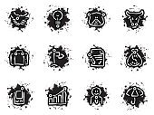 Bull - Animal,Grunge,Computer Icon,Handshake,Dirty,Symbol,Icon Set,Umbrella,Business,Mobile Phone,Paint,Light Bulb,Finance,Bear,Bull Market,Progress,Vector,Iconset,Wealth,Meeting,Document,Chart,Ideas,Bag,Briefcase,Flag,Businessman,Stained,Illustrations And Vector Art,Graph,Black Color,Interface Icons,Agreement,Vector Icons,White,Growth,Communication,Dollar Sign