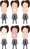 Emotion,Businessman,Depression - Sadness,Sadness,Anger,Displeased,Furious,Happiness,Cartoon,Cheerful,Business,Illness,Vector,Careless,Shock,Men,Crying,Fear,Terrified,Ilustration,Pencil Drawing,Grief,Despair,People,Disappointment,Isolated On White,Drawing - Art Product,Isolated,Business,Illustrations And Vector Art,Business People