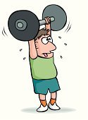 Weightlifting,Weight Training,Cartoon,Strongman,Body Building Exercises,Humor,Effort,Weights,Struggle,Body Building,Exercising,Dumbbell,Strength,Sports Training,Adults,Fitness,Sports And Fitness,Sports Symbols/Metaphors,Vector,Heavy,Ilustration,Lifestyle