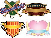 Baseball - Sport,Insignia,Sport,Anniversary,Banner,Coat Of Arms,Label,Heart Shape,Placard,Valentine's Day - Holiday,Ribbon,Shield,Symbol,Medal,template,Love,Striped,Medallion,Scroll Shape,Decoration,Illustrations And Vector Art,Scroll,Outfield,Star Shape,Outdoors