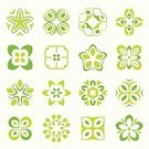 Leaf,Tree,Design Element,Flower,Symbol,Computer Icon,Green Color,Icon Set,Vector,Ilustration,Illustrations And Vector Art,Part Of