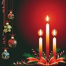 Candle,Christmas,Red,Greeting,Christmas Decoration,Backgrounds,Holiday,Vector,Bow,Decoration,Ilustration,Happiness,Christmas,Vector Backgrounds,Holidays And Celebrations,Illustrations And Vector Art,Gold Colored,Winter