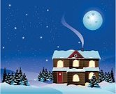 Cartoon,House,Backgrounds,Christmas,Snow,Winter,Moon,Night,Star - Space,Window,Holiday Villa,Vector,Blue,Sky,Tree,Holiday,Ilustration,Christmas Tree,Design,White,Cold - Termperature,Light - Natural Phenomenon,December,Happiness,Season,Illustrations And Vector Art,Vector Cartoons,Design Element,Sparks,Moonlight,Decoration