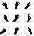 Human Hand,Hand Sign,Gesturing,Symbol,Vector,Ilustration,The Human Body,Communication,Illustrations And Vector Art,Concepts And Ideas,Square