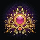 filigree,Scroll Shape,Swirl,Pink Color,Gold Colored,Vector,Black Color,Ornate,Design Element,Intricacy,Circle,Creativity,Curve,Ilustration,Image Created 2000s,Elegance,Red,Vector Backgrounds,Arts Backgrounds,Arts And Entertainment,Illustrations And Vector Art,Vector Ornaments