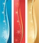 Banner,Christmas,Vertical,Winter,Gold Colored,Illuminated,Blue,Snowflake,Backgrounds,Clip Art,Season,Design,Holiday,Red,Star Shape,No People,Vector,Celebration