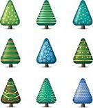 Christmas Tree,Christmas,Tree,Icon Set,Christmas,Plants,Vector Icons,Illustrations And Vector Art,Holiday,Nature,Holidays And Celebrations