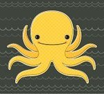 Octopus,Sea Life,Wave,Sea,Pattern,Wave Pattern,Cute,Water,Animal Arm,Sea Life,Animals And Pets,Smiling