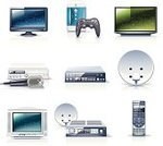 Symbol,Computer Icon,Television Set,Icon Set,Appliance,Electrical Equipment,Cable TV,Video,Electricity,Electronics Industry,Satellite Dish,Electronics Store,The Media,LED,Technology,VCR,Remote Control,Audio Equipment,Liquid-Crystal Display,Digital Display,Video Game,DVD Player,High-definition Television,Computer Monitor,Equipment,Karaoke,Receiver,Vector,Cathode Ray Tube,Joystick,Communication,Flat Screen,Entertainment,Antenna - Aerial,Broadcasting,Wide Screen,Global Communications,Interface Icons,Ilustration,Dvd Recorder,Television Receiver,Audio Electronics