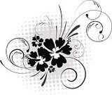 Hibiscus,Flower,Swirl,Circle,Halftone Pattern,Pattern,Spotted,Vector,Floral Pattern,Decoration,Backgrounds,Shape,Grunge,Modern,Scroll Shape,Design,Design Element,Silhouette,Elegance,Ilustration,Black Color,Computer Graphic,Blossom,Branch,Summer,Image,Nature,Flowers,Style,Vector Florals,Illustrations And Vector Art,imagery,Beauty,Space,Nature,Ornate,Painted Image,Nature Abstract
