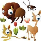 Llama,Cockroach,American Bison,European Bison,Animal,Africa,Zoo,jerboa,Butterfly - Insect,Vector,Illustrations And Vector Art,Animals And Pets