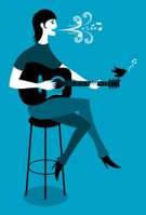 Music,Retro Revival,Musical Instrument,Musical Note,Birdsong,Women,Silhouette,Acoustic Guitar,Cartoon,Singing,Bird,Characters,Vector,Stool,Line Art,Postmodern,Female,People,Swirl,Clip Art,Positive Emotion,Modern,Communication,Vector Cartoons,Arts And Entertainment,Design Element,Music,Cheerful,Illustrations And Vector Art,Cute,Ilustration