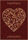 Heart Shape,Victorian Style,Old-fashioned,Vine,Art,Shape,Valentine's Day - Holiday,Swirl,Scroll Shape,Decoration,Ornate,Art Nouveau,Floral Pattern,Paper,Baroque Style,Pattern,Red,Love,Gothic Style,Rococo Style,Plant,template,Vector,Gold Colored,Ilustration,Holidays And Celebrations,Vector Backgrounds,Curled Up,Tracery,Grunge,Modern,Holiday Backgrounds,Illustrations And Vector Art,Emotion,Curve,Valentine's Day,Branch,Painted Image,Elegance,Composition,Textured Effect,Spiral,Decor,No People,Image,Backgrounds