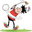 Golf,Cartoon,Sport,Men,Golf Hat,Golf Swing,Putting,Frustration,People,Vector,Jumping,Green Color,Hitting,Golf Ball,Golf Course,Driving Range,Sand Trap,Swinging,Putting Green,Golf Club,Isolated On White,golf links,Illustrations And Vector Art,Adult,Golf Shoe,Golf,Vector Cartoons,Tourist Resort,Sports And Fitness,Teeing Off,Leisure Games,Tee
