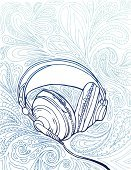 Music,Headphones,Doodle,Sketch,Music Style,Paisley,Drawing - Art Product,Pen And Marker,Hip Hop,Pencil Drawing,Audio Equipment,Cool,Arts And Entertainment,Young Adults,Music,Lifestyle,Pen And Ink,Funky,Line Art,Ilustration,Illustrations And Vector Art