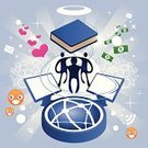 Computer Graphic,Currency,users,Computer,Sharing,Cool,Community,People,Social Issues,Internet,Book,Friendship,Computer Monitor,E-Mail,Heart Shape,Symbol,Backgrounds,Spirituality,Swirl,Smiley Face,Love,Smiling,Star Shape,Star - Space,Halo,Praying,Design Element,Ripple,Rippled,Dollar Sign,Computer Icon,Levitation,Vector,Spinning,Dollar,Inspiration,Sayings,Concepts,Ilustration,Technology,Isolated,Technology Symbols/Metaphors,Light - Natural Phenomenon,Ideas