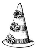 Engraved Image,Engraving,Hat,Witch's Hat,Crown,Ilustration,Antique,Line Art,Image,Single Object,Retro Revival,Black And White,Old-fashioned,White Background,Elegance,Clip Art,High Contrast,Old,Front View,Vertical,Studio Shot,No People,Beauty And Health,Funky,Isolated On White,Personal Accessory,Fashion,Image Created 19th Century,Brim,Clothing,Illustrations And Vector Art,Cut Out,Fashion,Asian Style Conical Hat,Cone,Close-up