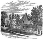Engraved Image,Monoprint,Image Created 1860-1869,History,House,Engraving,USA,Ilustration,Old,Mansion,Black And White,Famous Place,Outdoors,Square,Travel Locations,Old-fashioned,People,Event,Architecture And Buildings,Homes,Residential Structure,Building Exterior,Image Created 19th Century,Antique,News Event