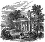 Mount Vernon - Virginia,Monoprint,Mansion,House,Ilustration,Engraving,George Washington,Black And White,Engraved Image,News Event,USA,Image Created 19th Century,History,Old,Travel Locations,Architecture And Buildings,People,Homes,Event,Famous Place,Group Of People,Antique,Image Created 1860-1869,Old-fashioned,Square